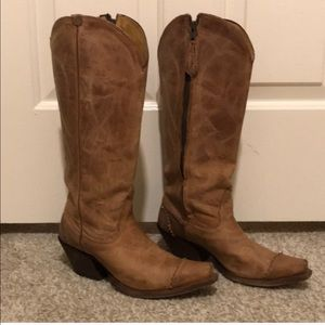 Tony Lama side zip cowboy boots
